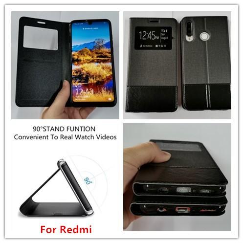 Xiaomi Redmi 6 6A 7 7A 8A Note 7 8 8 Pro View Flip Cover case for Phone