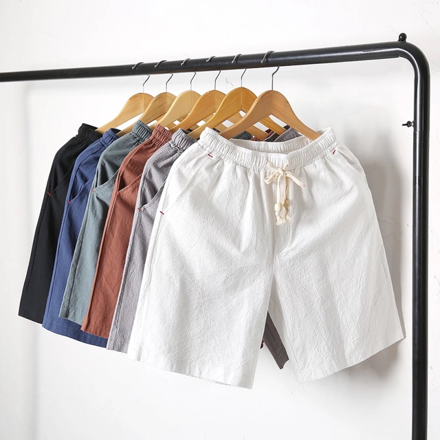 [M~5XL]Men Clothing Casual Pants 夏季超薄款五分短裤男土百搭半截中裤潮流5六分韩版半裤6休闲夏裤