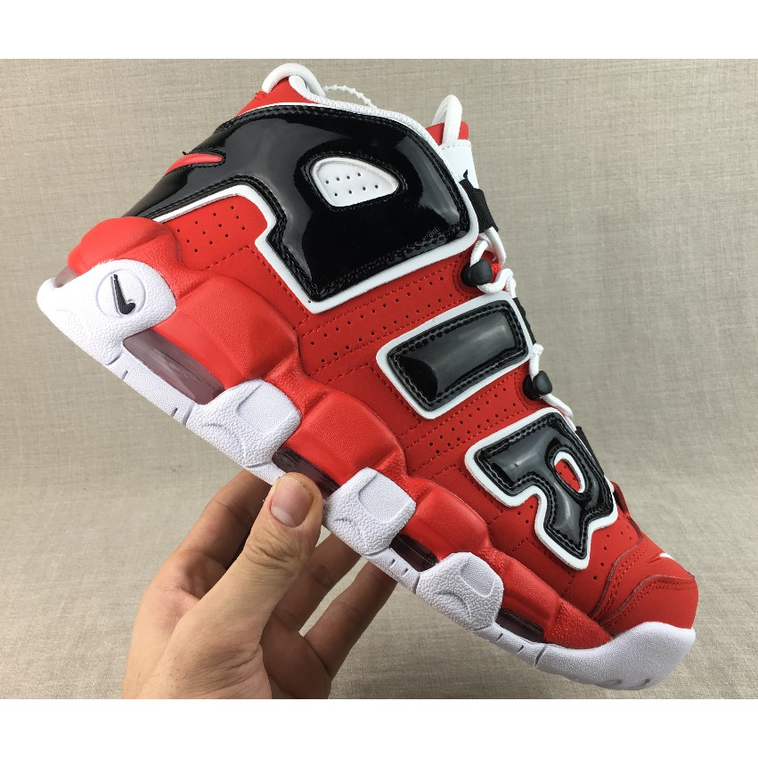 READY STOCK 2017 NIKE AIRE MORE UPTEMPO CHI QS MAN SHOES RED COLOR WHOLESALE