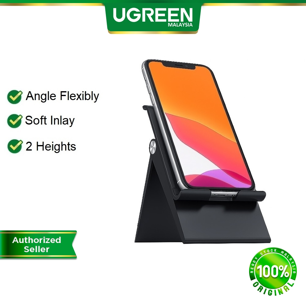 UGREEN Phone Stand Holder Desk Cell Phone Dock Stand for iPhone 12 SE 7 8 Samsung S20 Ultra Adjustable Foldable Stand