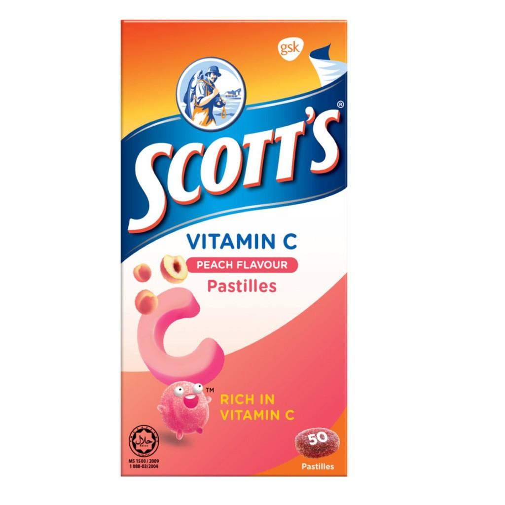Scott's Vitamin C Pastilles 100g - Peach (50s)