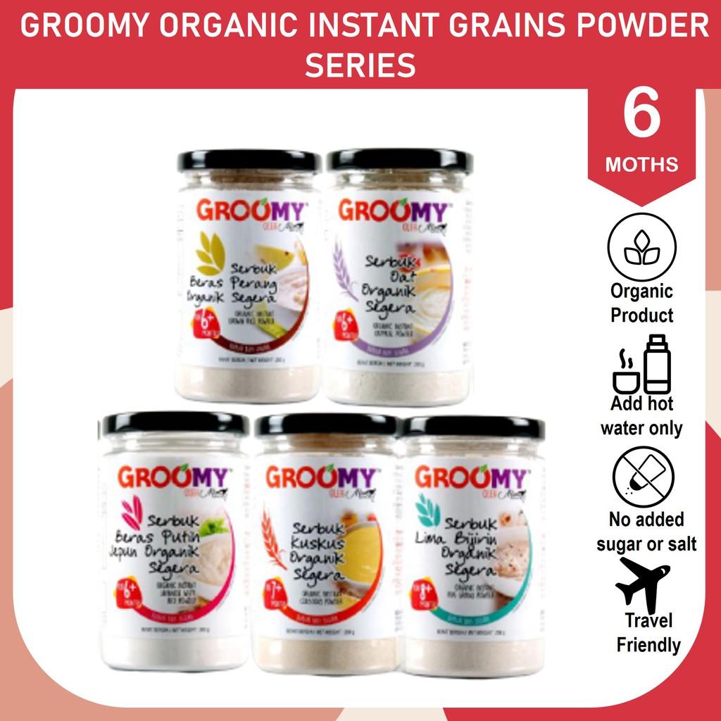 GROOMY ORGANIC BABY FOOD INSTANT GRAINS PORRIDGE