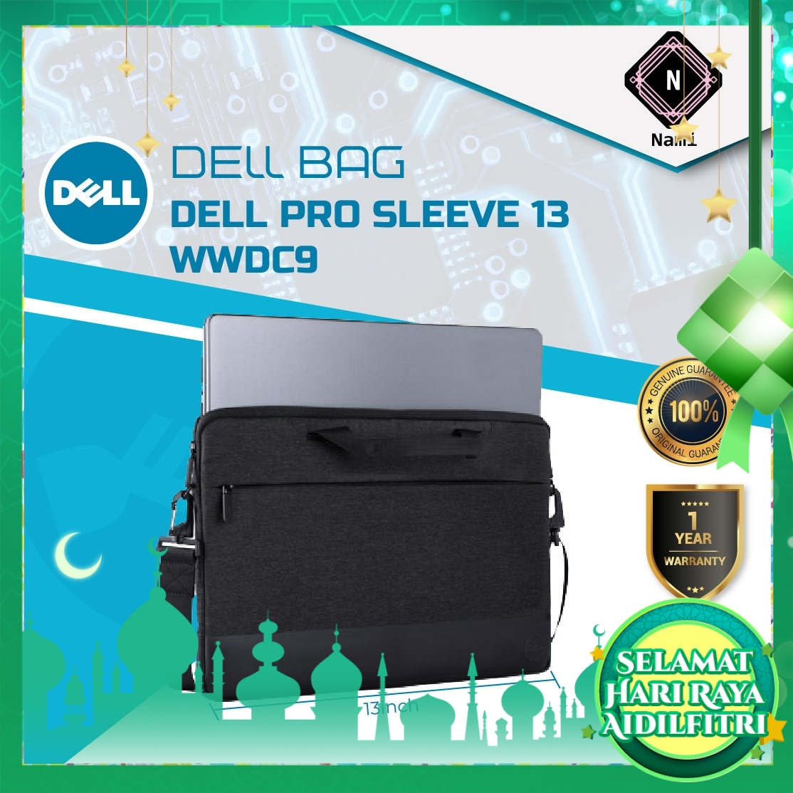 """Dell Professional Sleeve Fits 13"""" laptops"""