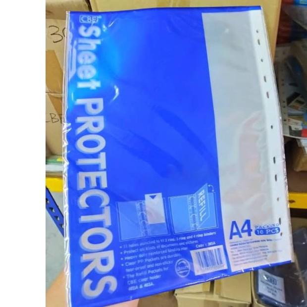 CBE Sheet Protector 305A 10's per pkt