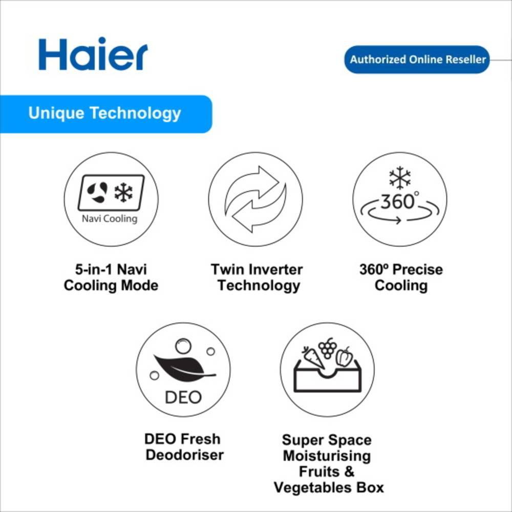 Haier 249L 2 Door Refrigerator Fridge Peti Sejuk with Twin Inverter Technology HRF-278IHM