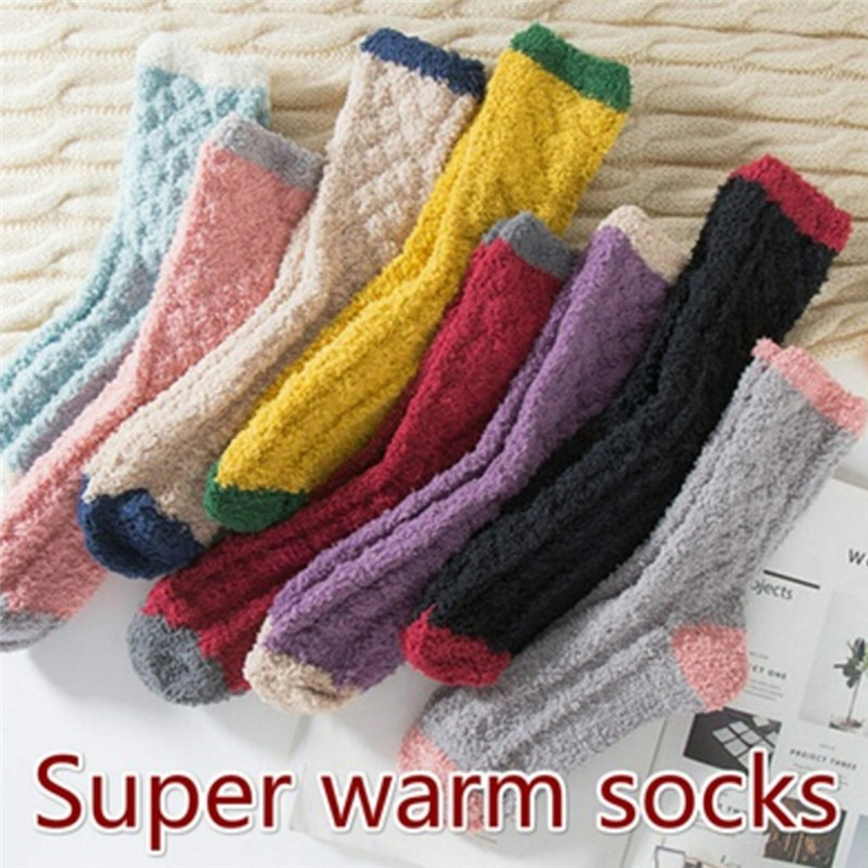 551fab7eb973 ProductImage. ProductImage. Extremely Cozy Cashmere Socks Women Winter Warm  ...