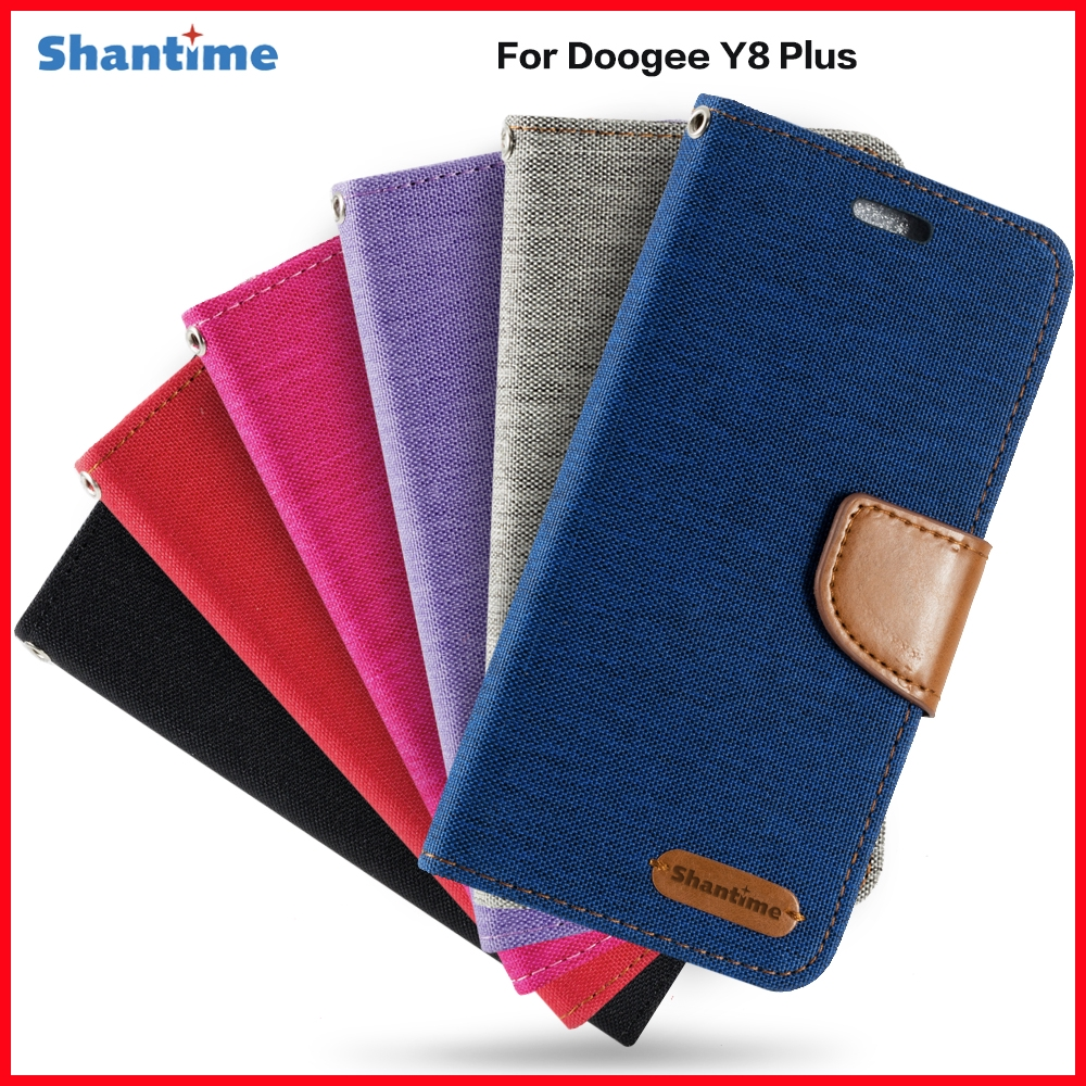 PU Leather Phone Case For Doogee Y8 Plus Business Flip Book Case