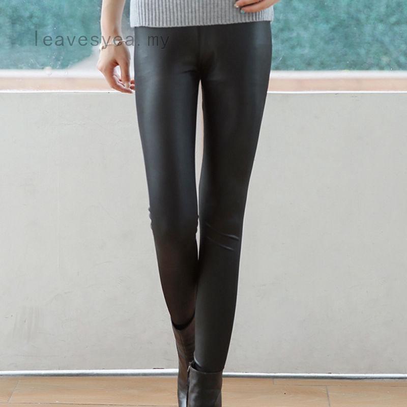 choisir l'original profiter de la livraison gratuite site autorisé Femme Leggings en cuir noir Pantalon skinny stretch extensible