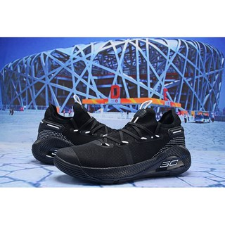 big sale 0a12a 14c65 2019new Under Armour Curry 6 Mens Black white Basketball shoes
