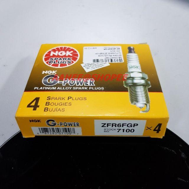 JDM Japanese 4 New NGK Platinum Power Spark Plugs ZFR6FGP # 7100