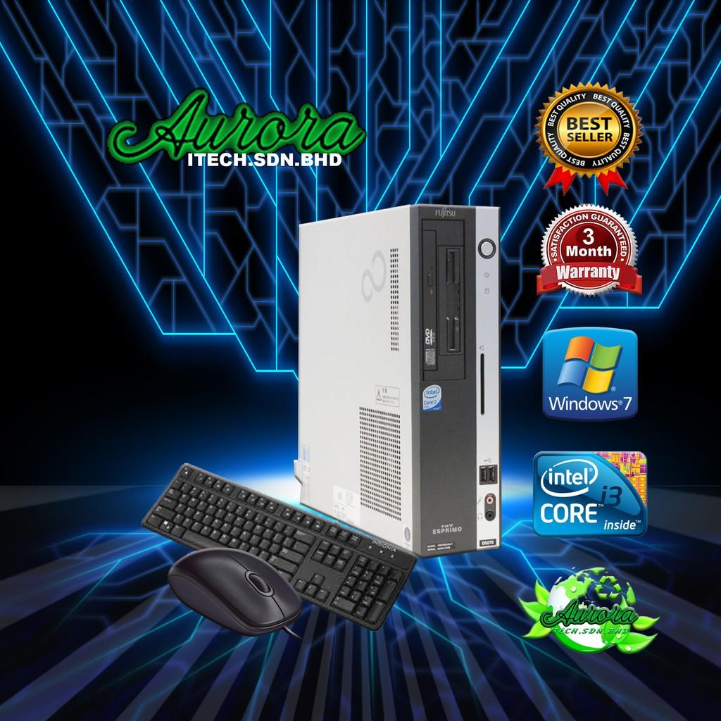 (REFURBISHED)FUJITSU ESPRIMO D581 DESKTOP PC COMPUTER / Intel Core i3 @2 Gen