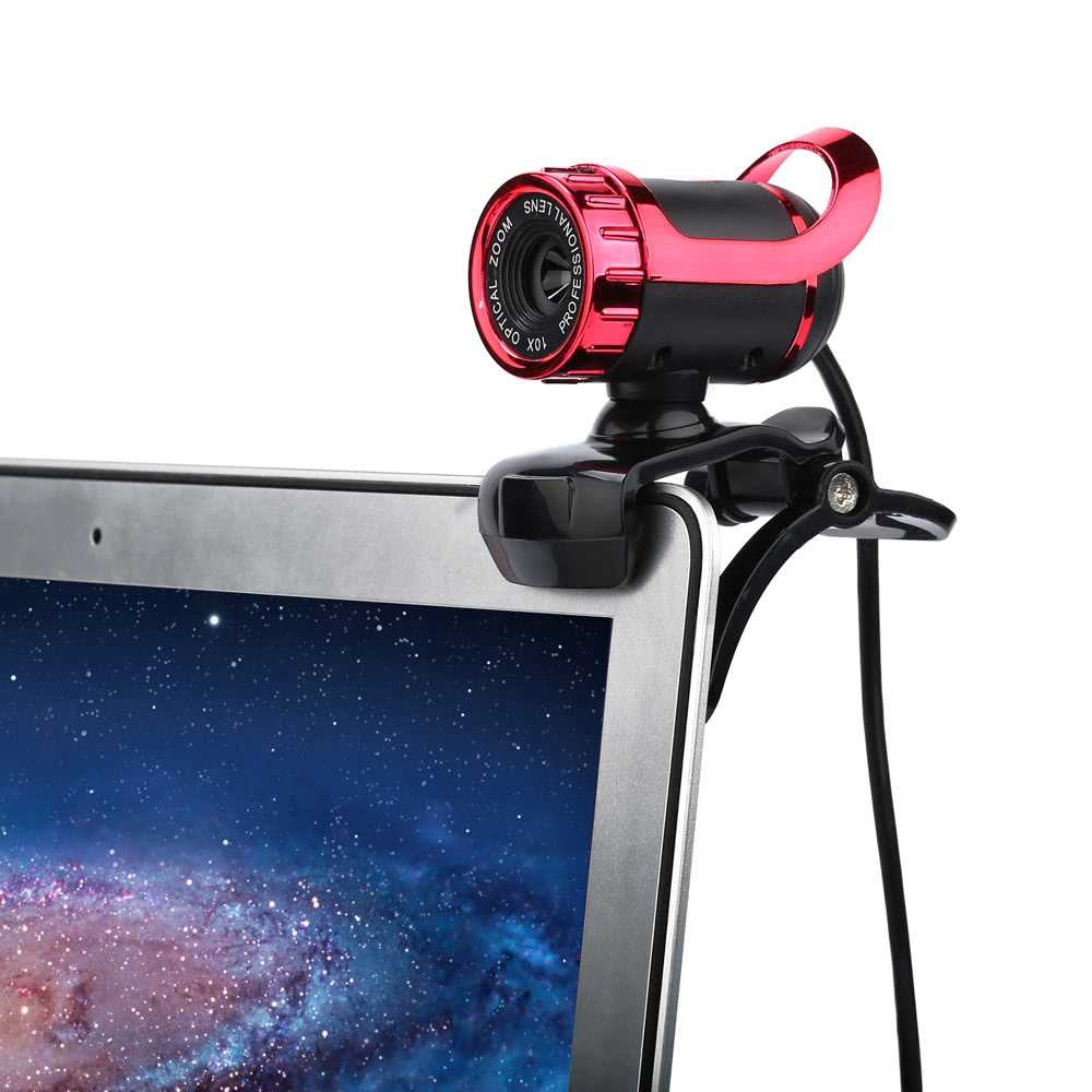 USB 2.0 50 Megapixel HD Camera Web Cam 360 Degree with MIC Clip-on for Desktop Skype Computer PC Laptop (White)