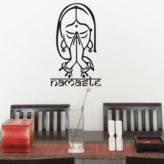 Namaste Wall Stickers Home Decor Hindi Language Wall Decals Removable Vinyl Art