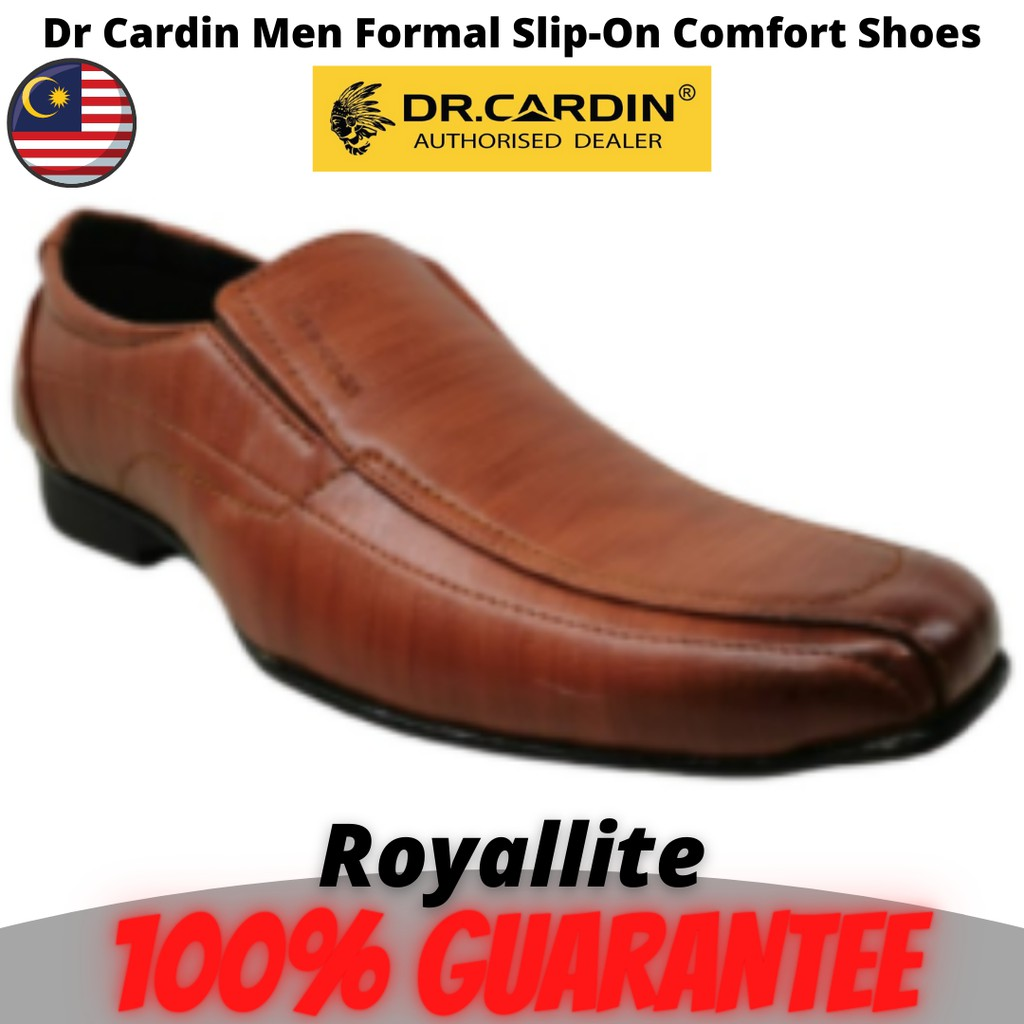 Dr Cardin Men Formal Slip-On Micro Suede Comfort Shoes (6201)Tan