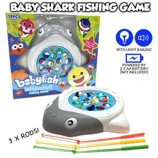 Fishing Game Toy Shark Fishing Game for Kids Baby Shark Fishing Game with Lights and Sound For Boys Girlso