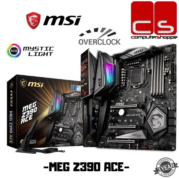 MSI MEG Z390 ACE ATX MOTHERBOARD LGA1151