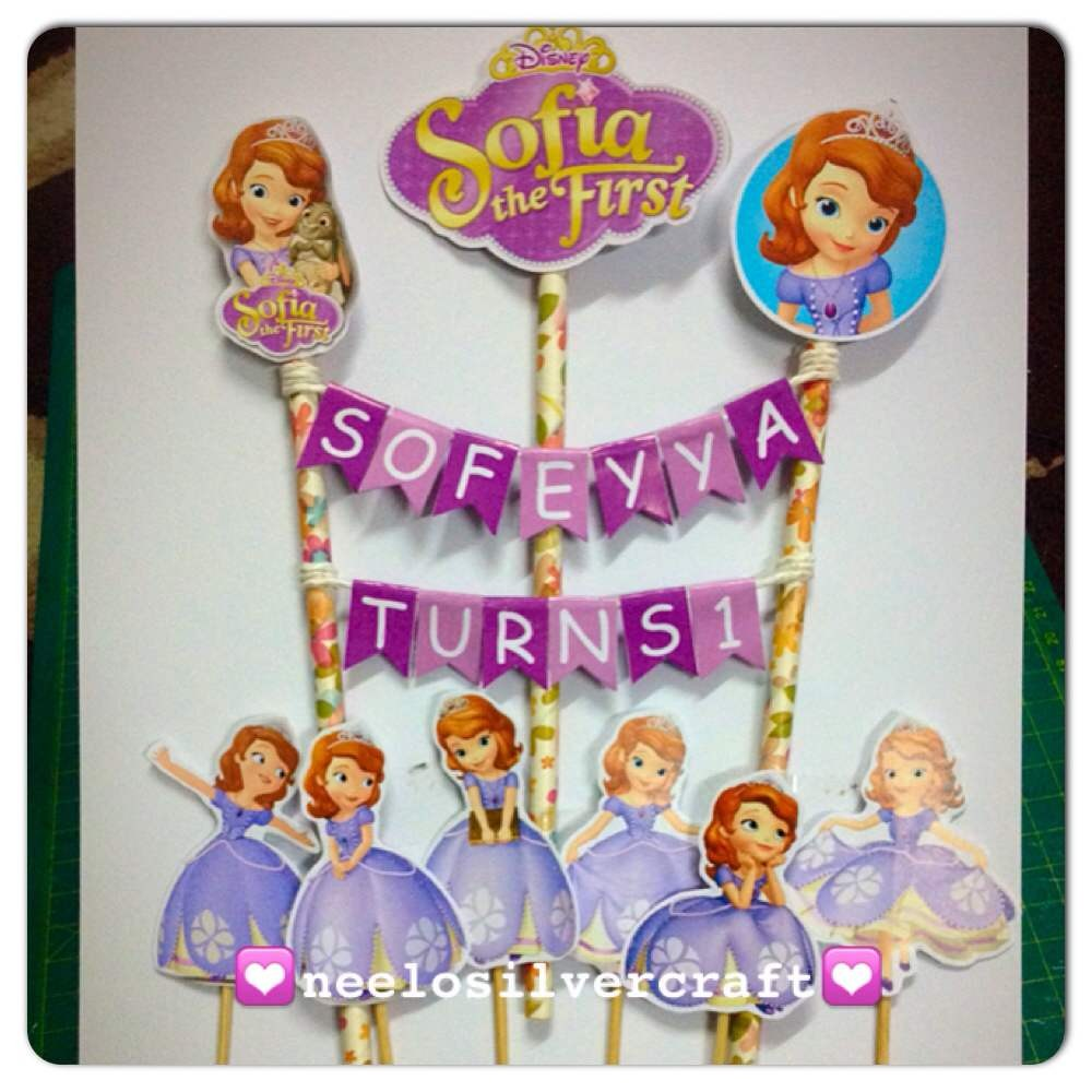 Sofia The First Birthday Cake Topper Shopee Malaysia