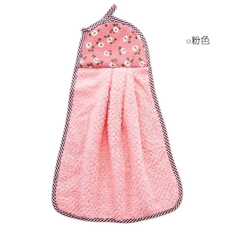 【Ready stock】珊瑚绒挂式擦手巾 加厚抹布洗碗巾厨房吸水毛巾不掉毛洗碗布