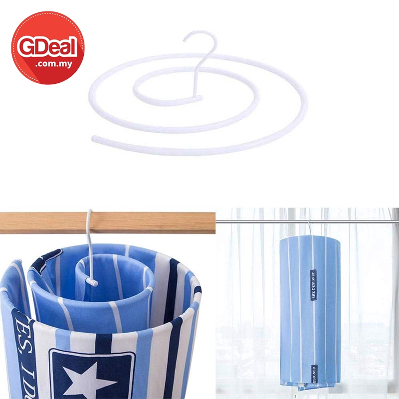 GDeal Home Laundry Sun Quilt Spiral Hanger Space Saving Bedsheet Round Drying Rack