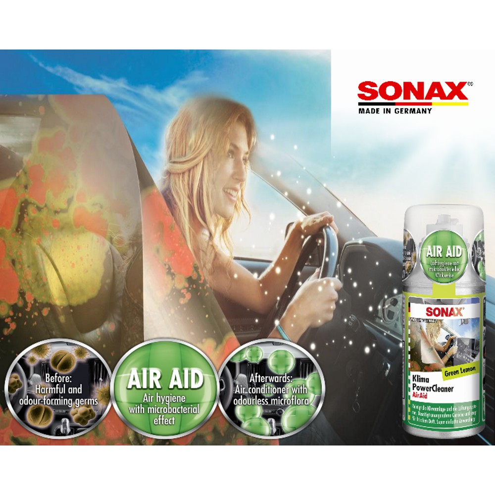 [Probiotic A/C Cleaner] SONAX Car A/C cleaner 100ml (Green Lemon)