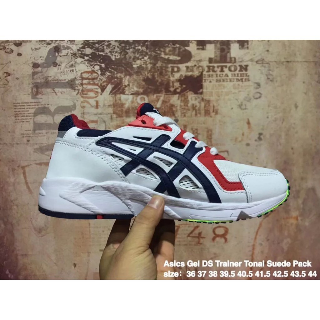 size 40 0a4ee 3e140 M new arrive Asics Tiger gel DS TRAINER OG tonal suede white red for men  womens