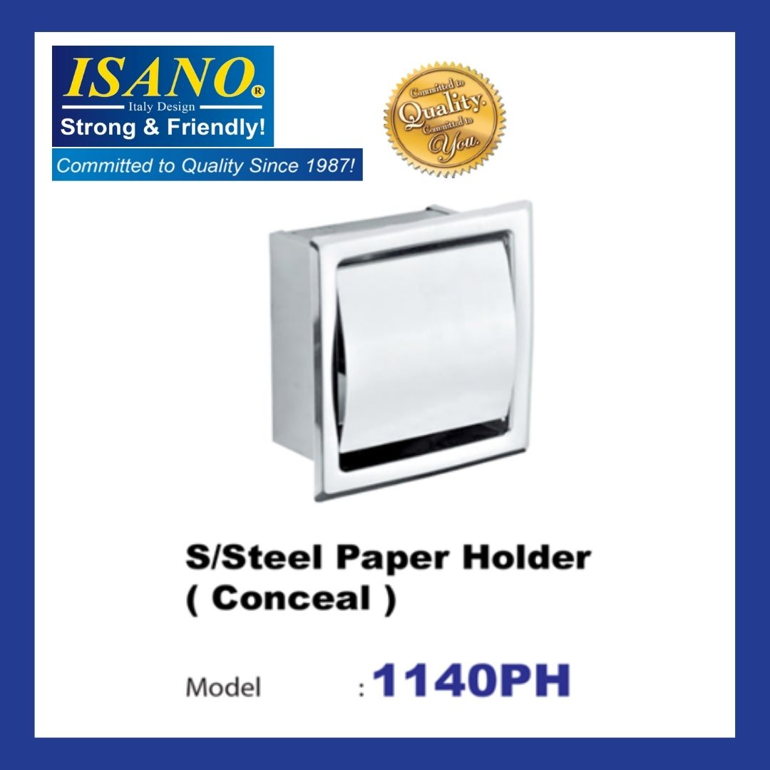 ISANO 1140PH Stainless Steel Paper Holder - CONCEAL