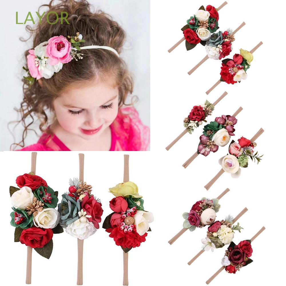 305f40f7fd4 3pcs/set Baby Flower Headband Cloth Headwear Girls Hair Band Photo Props |  Shopee Malaysia