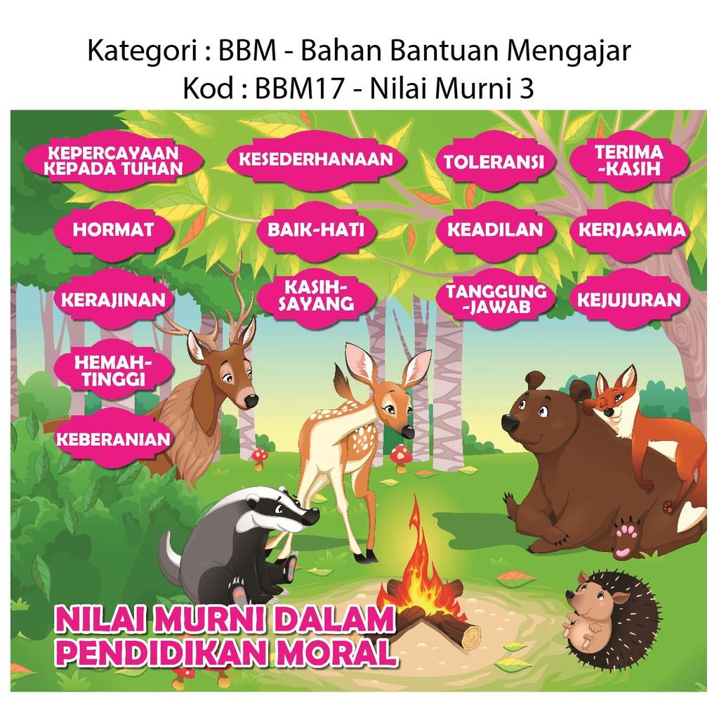 Poster Carta Nilai Murni Dalam Pendidikan Moral Bbm17 Shopee Malaysia