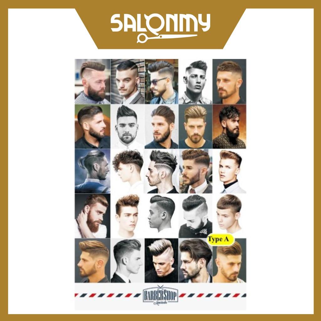 European Western Style Men Hair Barber Poster