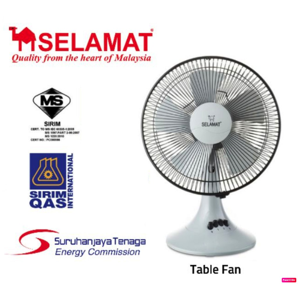 Table Fan 16'' SIRIM MS Approved