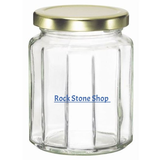 280ml Dodecagon Glass Jar 12 Angles Mini Bottle Air Tight Storage Container For Sweet Gift Cookie | Botol Kaca | 玻璃小罐子