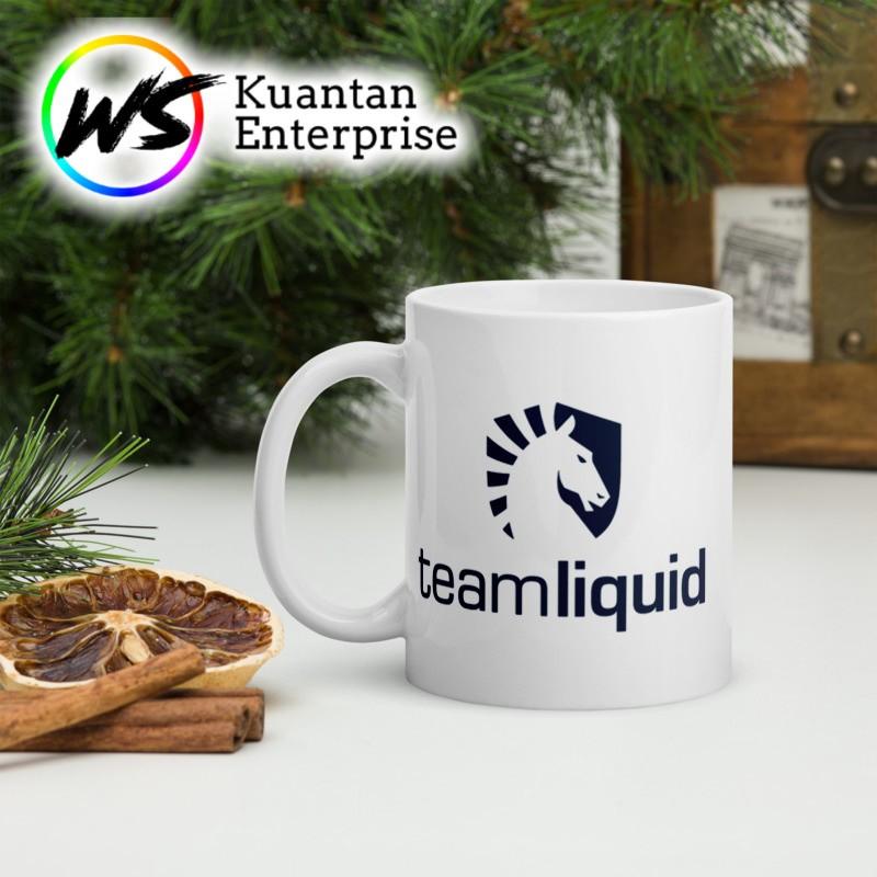 【100% Ready Stock】DOTA MUG TEAM LOGO TEAM LIQUID   CAWAN DOTA 2 TEAM LIQUID   OFFICE MUG   COFFEE MUG   PRINTING MUG
