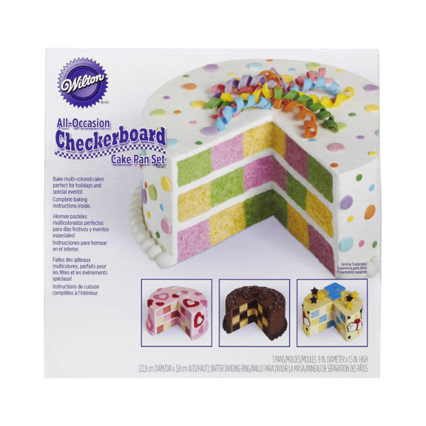 WILTON, Cake Pan Set, Checkerboard, Round