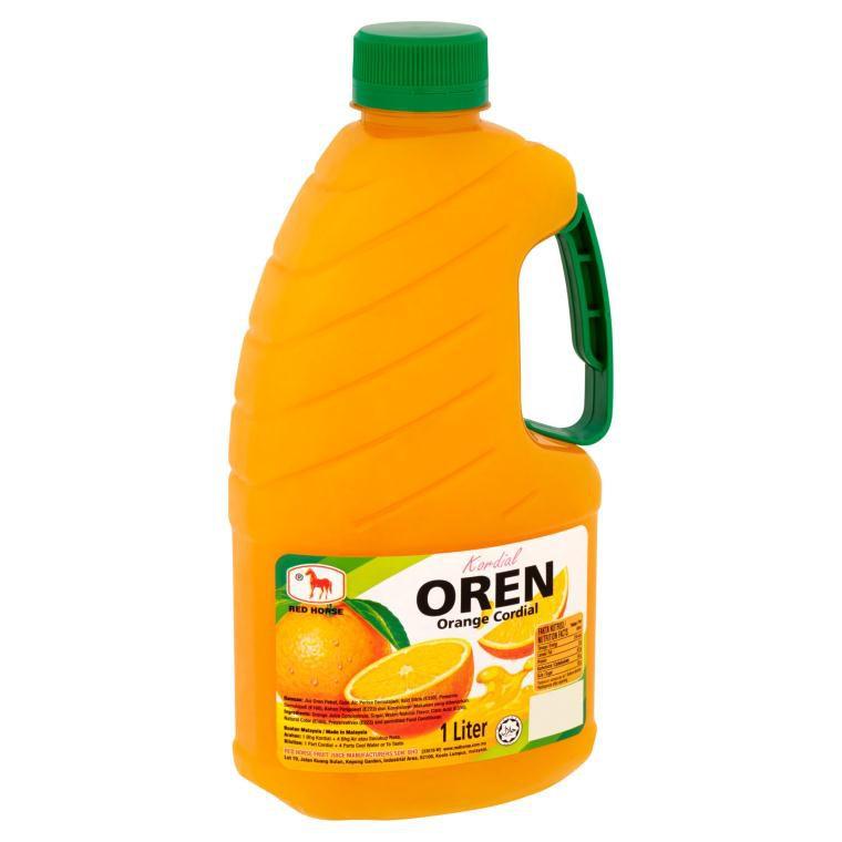 Red Horse Cordial (1L) - Orange / Oren | Shopee Malaysia