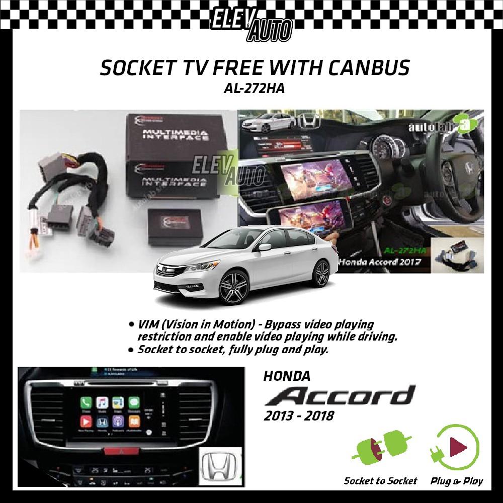 Honda Accord 2013-2018 Socket TV Free (Bypass VIM) With Canbus Anson AL-272HA