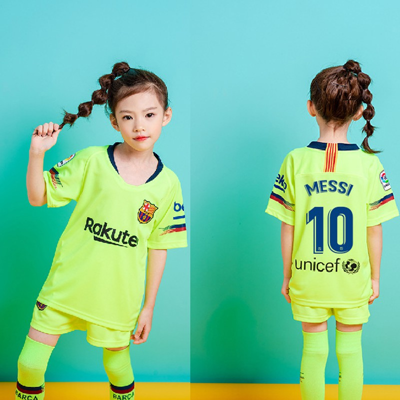 big sale b36ac 82533 1819 Barcelona FC #10 Messi Kids Jersey Jersi Football Soccer Uniform  Sportswear
