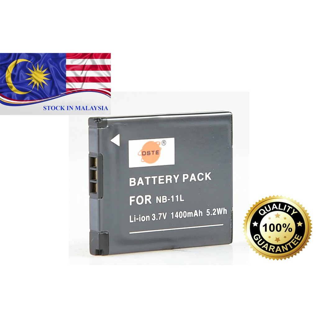 DSTE NB-11L 1400mAh Replacement Battery for Canon (Ready Stock In Malaysia)