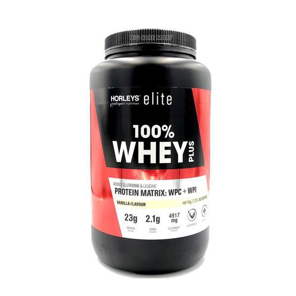Horleys Elite 100% Whey Plus Protein 1kg (Vanilla Flavor)