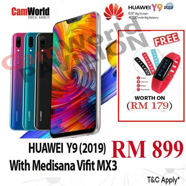HUAWEI Y9 ( 2019 ) SMARTPHONE ( BLACK & BLUE COLOUR )