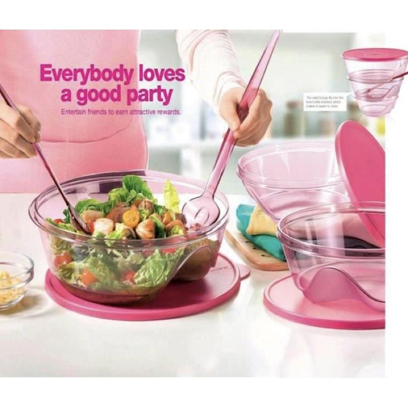 Tupperware Premium Prosperity Bowl Set / Pink Stackable set
