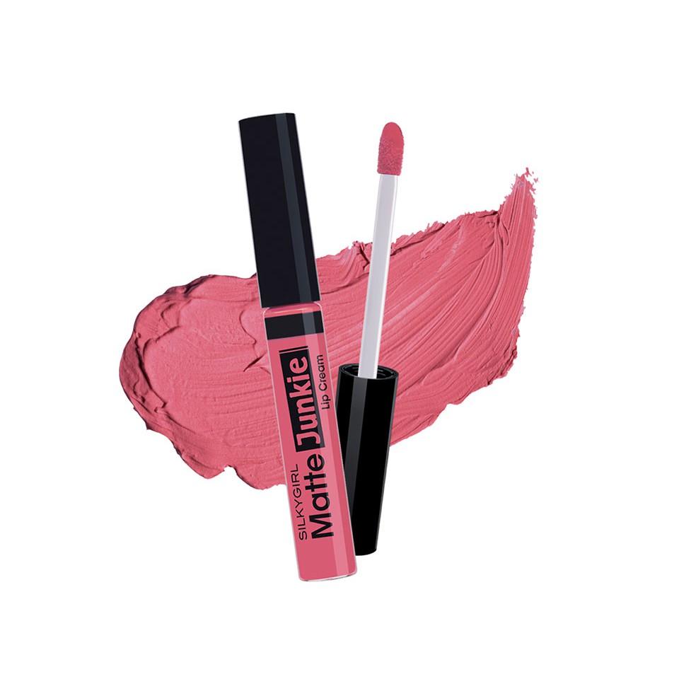 (02 - Glamour) SILKYGIRL Matte Junkie Lip Cream | Shopee Malaysia