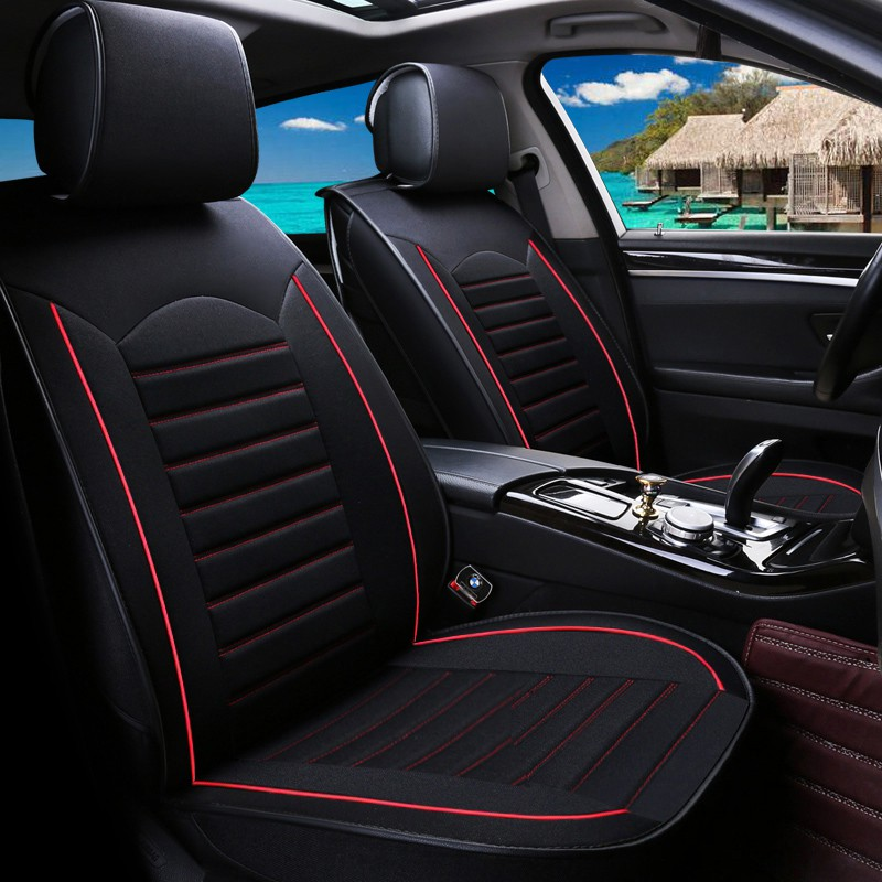 Makang Seat Cover PU Leather Car Seat Covers Full Set for 5 Seats Car Automotive Universal Fit Seat Covers Seat Cushion Cover Color : B for Year-Round Use
