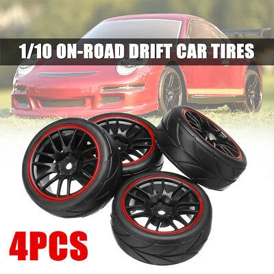 4pcs Soft Rubber Sponge Liner Tire Tyre Wheel Rim for 1//10 RC On-road Racing Car