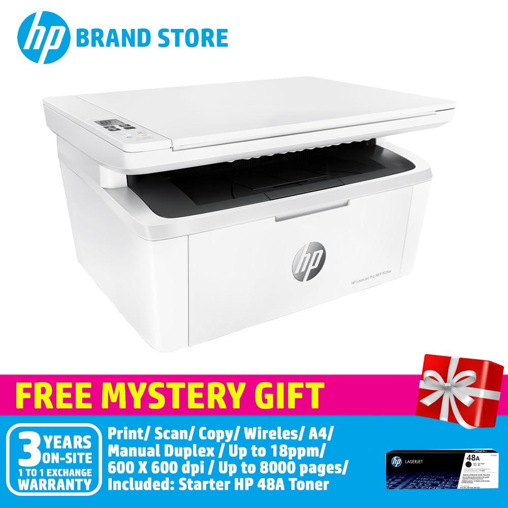 HP LaserJet Pro MFP M28w Printer W2G55A+Free Mystery Gift