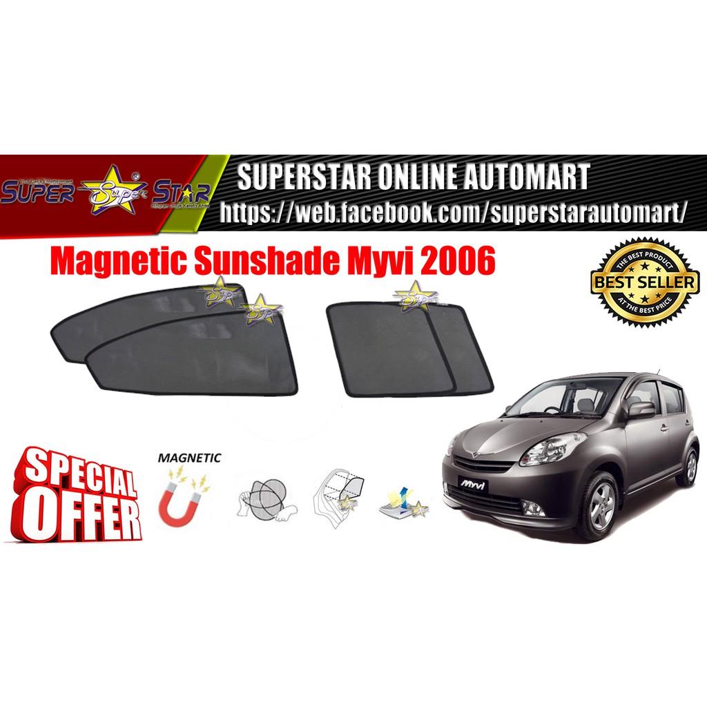 CARFIT OEM Magnetic Custom Fit Sunshade For Perodua Myvi 2006 (4pcs Sets)