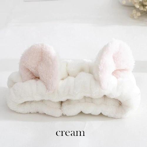04b93b5922b8 Cute Elastic Cat Ears Headbands Makeup Face Washing Headband Hairband Hair
