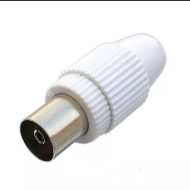 Coaxial Plug Female Connector TV Plug for MyTv MyFreeview