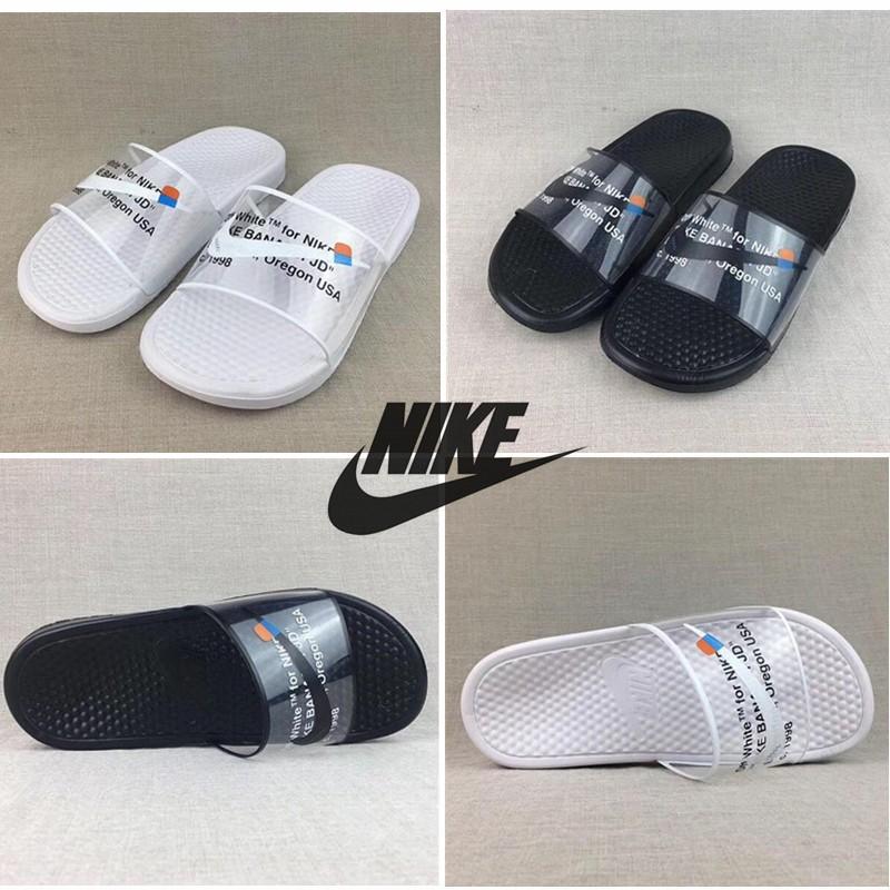 Impuro carne Segundo grado  STAF OFF WHITE x NIKE BENASS Slipper GHOSTING Men/Women Slipper sandals    Shopee Malaysia