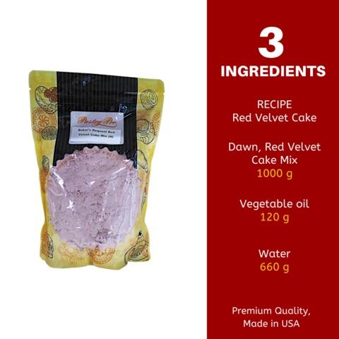 Dawn, Baker's Request, Red Velvet Cake Mix, 1 kg [HALAL]