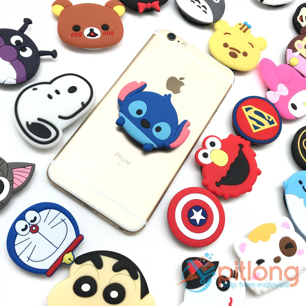 a72198713 POP Socket Ring Phone Airbag Holder Expanding Stand and Grip Mount  Smartphones   Shopee Malaysia